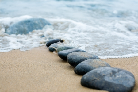 Abstract path from a pebble. A sea surf. Stock Photo - 10530978