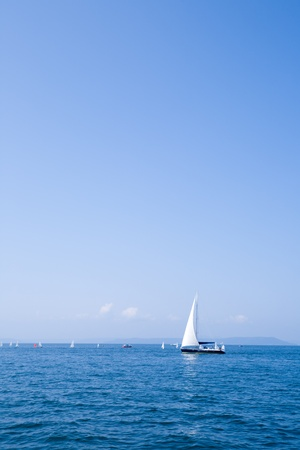 Yachts in the sea. A regatta photo