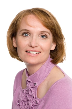 Beautiful smiling middle aged woman. Stock fotó