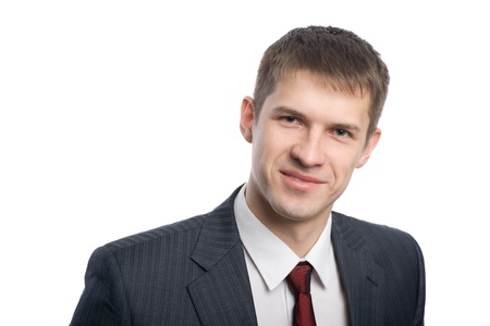 Portrait of a smiling handsome young businessman.