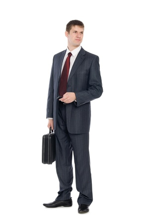 Awaiting a handsome young businessman with a mobile phone. Stock Photo - 10556229