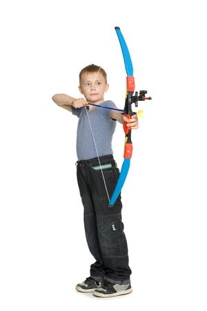 bowman: Boy riprese uno sport a farfalla per bambini.