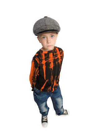 kind hearted: Cute boy with a kind look. Stock Photo