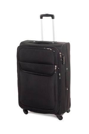 Large black suitcase for travel. Modern design. photo