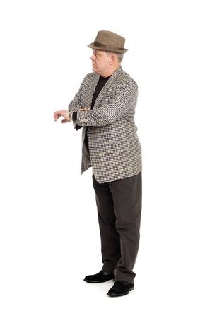 Elegant middle aged man waiting for someone. Stock Photo - 11720607