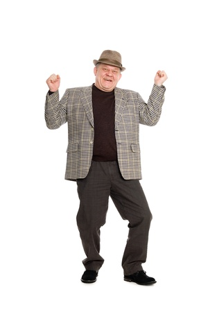 Enthusiastic man in the hat. Stock Photo - 11720611