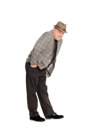 Middle aged man in a playful ironic pose. Stock Photo - 11720627
