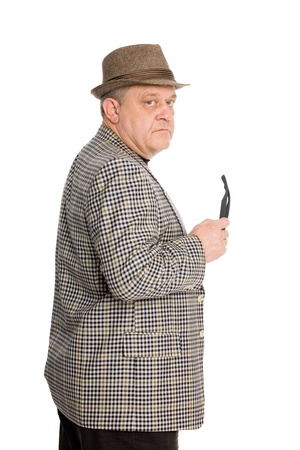 respectable: Portrait of a respectable middle aged man in a hat. Stock Photo