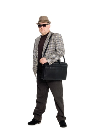 Respectable middle-aged man with a briefcase. photo