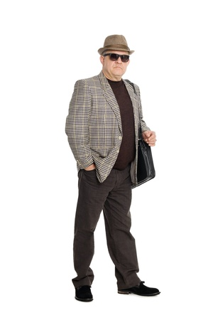 Portrait of a man aged isolated on white background. Stock Photo - 11720667