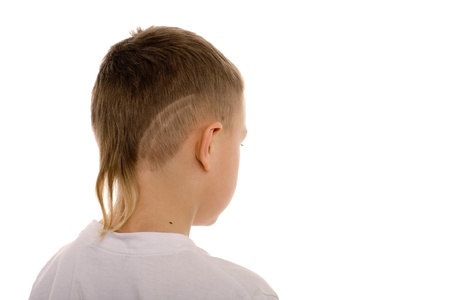 Eight-year boy from the back. Children photo