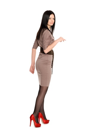 Beautiful slim young brunette in high heels Stock Photo - 12331786