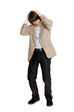 doldrums: Young business man who is in the doldrums Stock Photo
