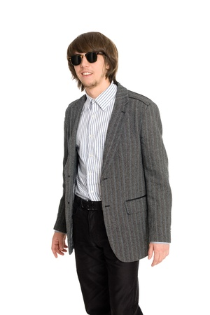 A young businessman with sunglasses photo
