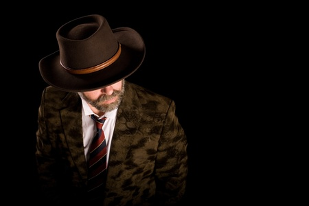 stetson: Fashionable middle aged man in a stetson Stock Photo