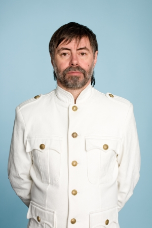 colonel: Middle aged man in the form of a naval officer. Stock Photo