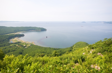 Nakhodka Bay  Russia  Primorsky Kray  Japan sea  Morning  photo