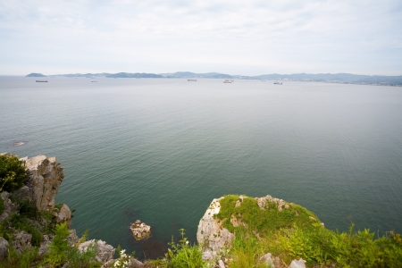 Nakhodka city stand on the shores of Nakhodka bay  Russia  Primorsky Kray  Japan sea  photo