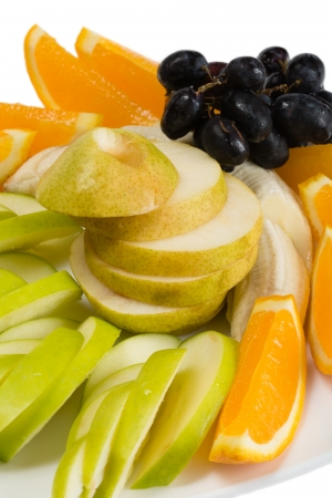Assorted fruits of orange, apple, grapes and pears  photo
