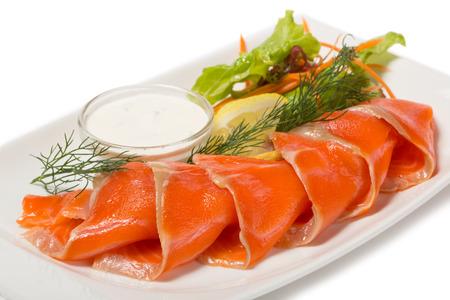 jorobado: Trucha de mar salados con el sabor de la naranja, el lim�n y la lechuga.