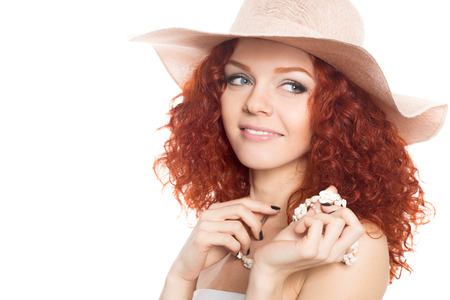 Cute young woman wearing a hat  photo
