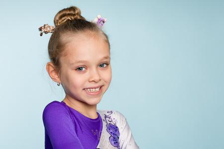 seven years: Portrait of joyful girl seven years