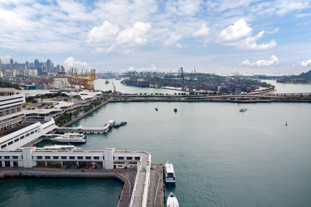 birdseye: View of the industrial areas of Singapore with birds-eye view.