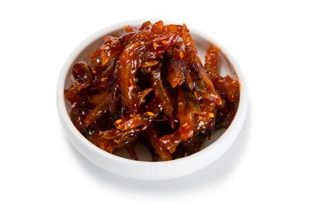 korean salad: Spicy-sweet salad heh of cod. From a series of Food Korean cuisine.