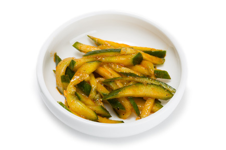 korean salad: Spicy salad heh of cucumber. From a series of Food Korean cuisine.