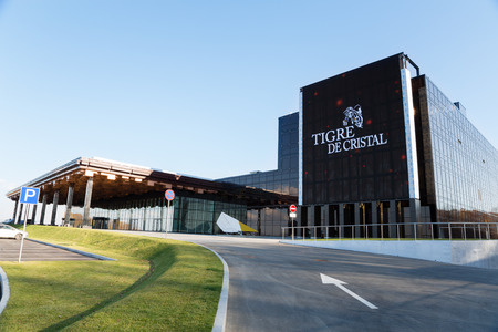 cristal: VLADIVOSTOK, RUSSIA - OCTOBER 18, 2015: Tigre de Cristal is the first casino which opened October 8, 2015 in the Primorsky Integrated Entertainment Zone IEZ in the suburbs of Vladivostok, Primorye.