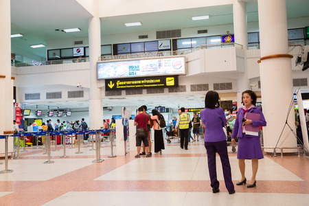 tourism industry: PHUKET ISLAND, THAILAND - CIRCA FEBRUARY, 2015: The terminal of Phuket International Airport. Airport plays an important role in the tourism industry of Thailand. Editorial