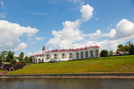 Embankment of the ancient city of Uglich, on the banks of the river Volga, Russia