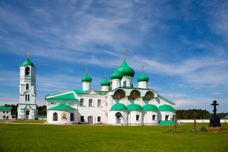 leningrad: Transfiguration complex Holy Trinity Alexander Svirsky Monastery in Karelia, north of Russia.