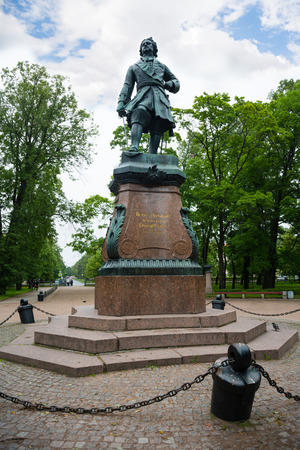 peter the great: Monument to Russian emperor Peter the Great in Kronstadt. Made and installed in 1841.