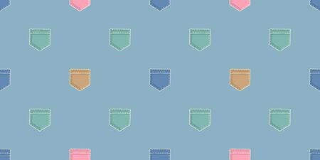 Vector pattern with multi-colored pockets. Seamless texture for baby clothes, bed linen, wrapping paper