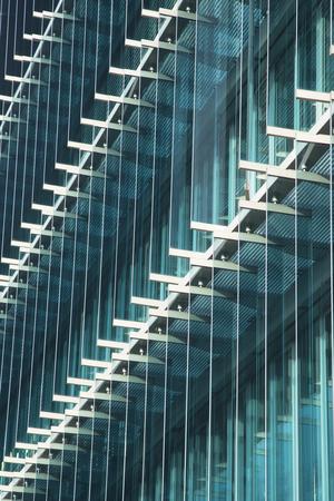 detail of a building glass facade