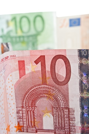 euromoney: 10 euro bill close up photo Stock Photo