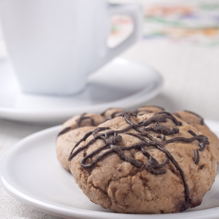 Chocolate Chip Cookie and cafee photo