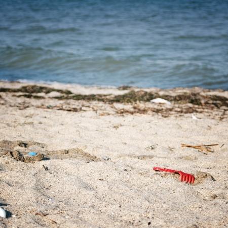trashy: close up photo of Dirty beach