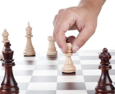 chessmen: Chessboard and on it chessmen