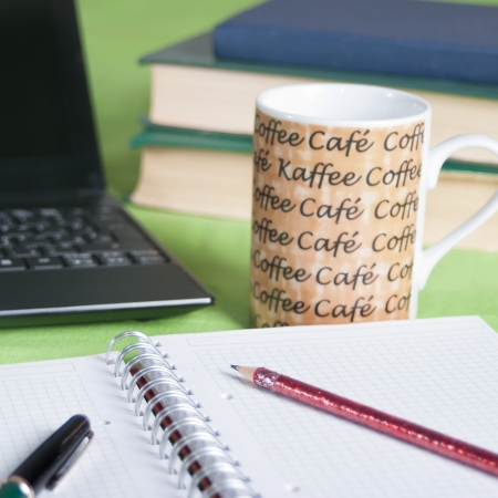 morning coffee on the desk,close up Stock Photo - 14982545