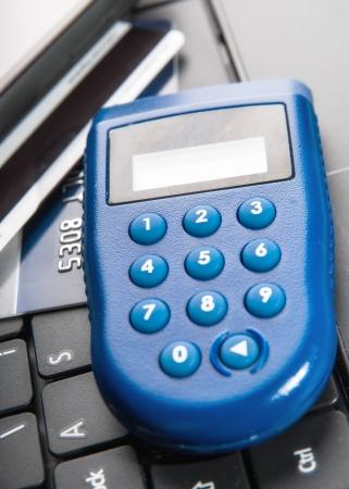financial controller: One-time password ,e banking Stock Photo