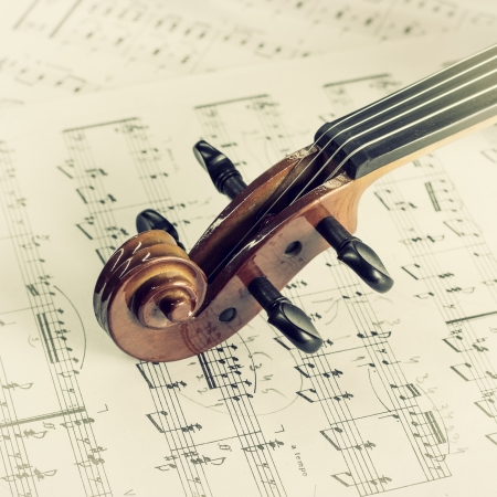 frederic chopin: Violin Head on Music,retro