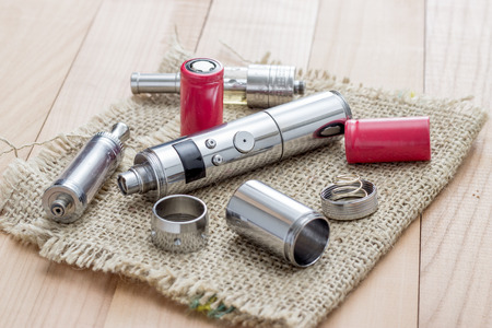 Advanced vaping device, E-cigarette on table photo