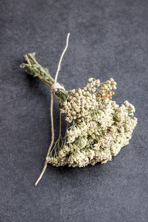 milfoil: spice, herbal plants on  table , top view Stock Photo