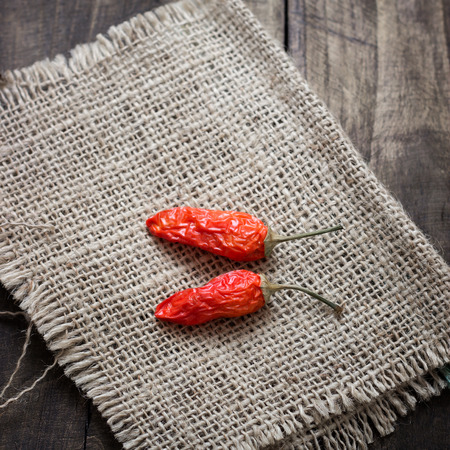 red chilly: Dried red chilly pepper on table, close up
