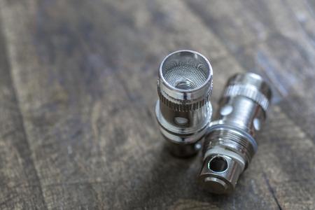 atomizer: Rebuildable Dripping Vaping Atomizer, close up Stock Photo