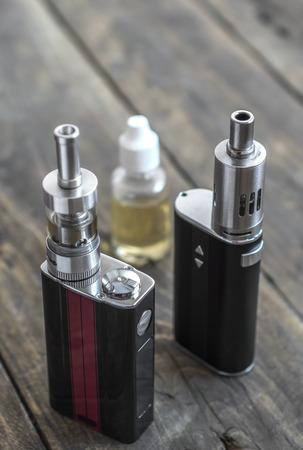 background e cigarette: Advanced personal vaporizer or e-cigarette, from above