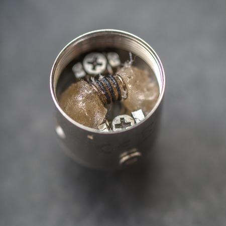 atomizer: Rebuildable Vaping Atomizer in close up