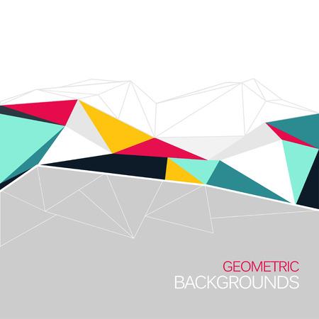 벡터 배경 추상적 인 삼각형